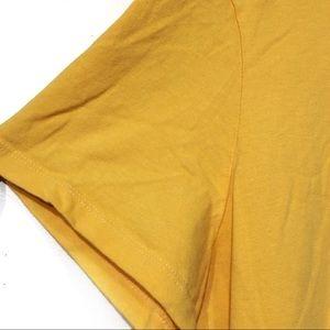 """Life Is Good Tops - Life is Good mustard yellow """"Unplug"""" tee shirt XL"""